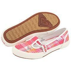 Roxy Kids Tiki (Toddler/Youth) Pink/Orange Plaid Athletic