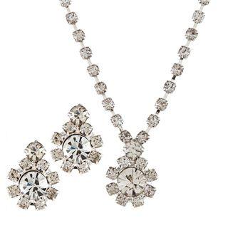 Alexa Starr Rhinestone Flower Jewelry Set