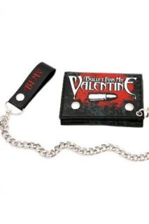 Bullet For My Valentine Crossed Gun Chain Wallet Clothing