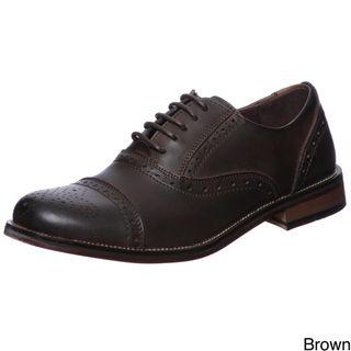 Steve Madden Mens Eddee Leather Oxfords