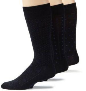 Nautica Mens 3 Pack Fancy Pattern Sock,Navy,8 to 12