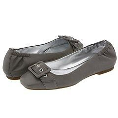 Ecco Dallas Buckle Titanium Leather Flats