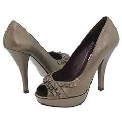 Steve Madden Beauti Bronze Leather Pumps/Heels
