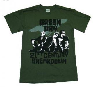 Green Day 21st Century Break Down Band T Shirt Tee