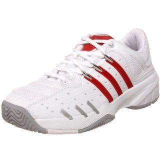 adidas Mens Tirand III Tennis Shoe,White/Red/Silver,6.5 M Clothing