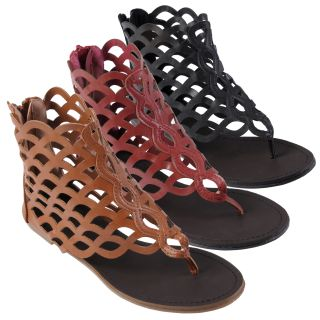 Journee Collection Womens Camilla Thong Gladiator Sandal