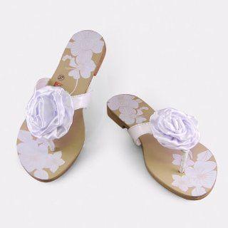 White Rose flip flop Womens Shoes Shoes