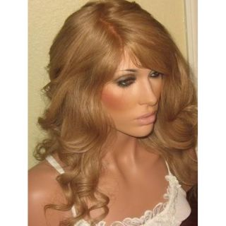 Flow Full Lace Strawberry Blonde Human Hair 22 in Wig