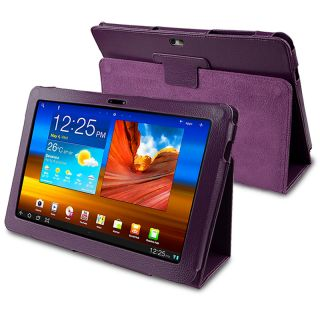 Purple Leather Case for Samsung Galaxy Tab 10.1 P7500