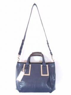 BESSO Blue Leather Luxury Italian Handbag Shoulder Bag