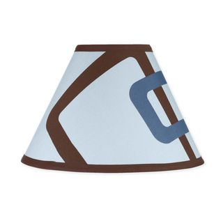 Sweet JoJo Designs Blue and Brown Geo Lamp Shade