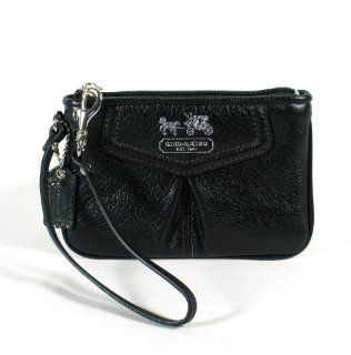 NEW AUTHENTIC COACH MADISON LEATHER WRISTLET (Black/Silver) Shoes