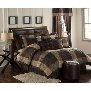 Carlton 10 piece Oversized Queen Comforter Set