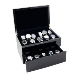 High Gloss Piano Black Solid Top 20 watch Case