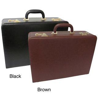 Amerilether Large Expandable Faux Leather Attache Case
