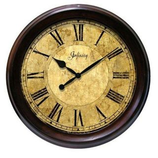 Infinity Yesteryear 20 inch Solid Wood Wall Clock