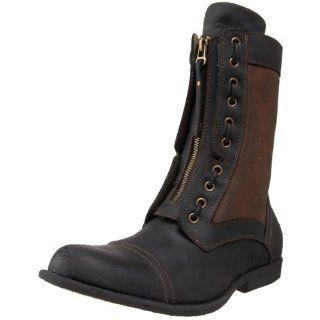 Steve Madden Mens Werner Boot,Black/Brown,7 M US Shoes