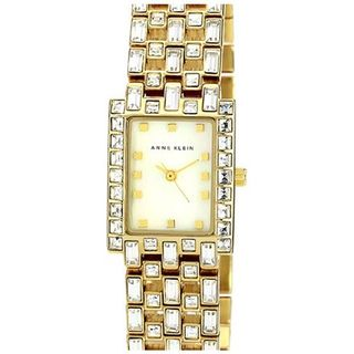 Anne Klein Womens AK 1056MPGB Goldtone Mother Of Pearl Analog Watch