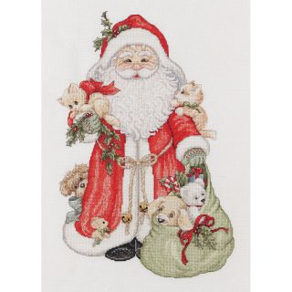 Santa Counted Cross Stitch Kit 9 1/2X14 1/2 28 Count