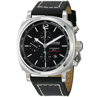 Kadloo Mens Scaramango Black Dial Black Strap Chronograph Watch