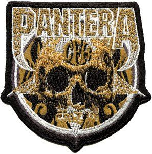 Pantera Skull & Name Logo Embroidered iron On patch p2176
