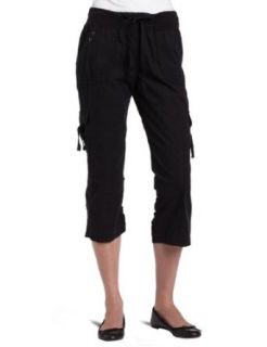 Calvin Klein Performance Womens Woven Capri Pant, Black