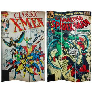 foot Tall Double Sided Spider Man/X Men Canvas Room Divider