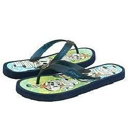 Ed Hardy Mens White/ Navy Flip flop Sandals