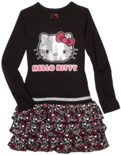 Hello Kitty Girls 7 16 Sequin Applique On Tier Dress