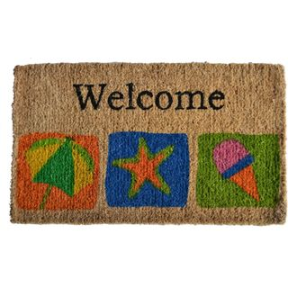 Beach themed Welcome Mat
