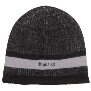 Minus33 Unisex Granite Black/ Grey Merino Wool Lightweight Beanie