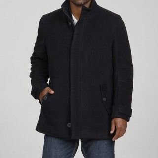 Andrew Marc Mens Zip out Liner Wool/Cashmere Blend Car Coat FINAL