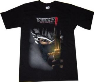 Ninja Gaiden II Ryu Deadly Gaze Black T Shirt Clothing