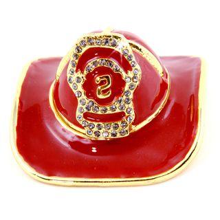Objet dart Fire Chief Fireman Helmet Trinket Box