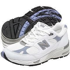 New Balance W991 White/Blue(Size 13 2E Extra Wide)