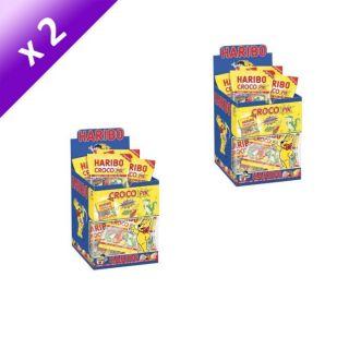 Lot de 2   HARIBO Croco Pik Mini Sachets   30 Sachets de 40 grammes x