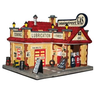 The Village Collections Christmas Gas Station