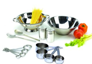 Stainless Steel 14 piece Pasta Prep Kitchen Tool Set