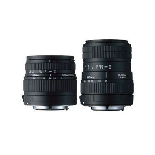 SIGMA double kit zoom 18 50 mm + zoom 55 200 mm po   Achat / Vente