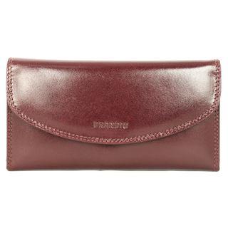 Brandio Womens Brown Leather Tri fold Wallet