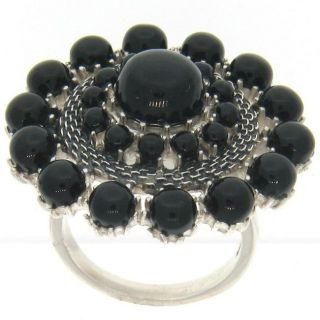 Meredith Leigh Sterling Silver Black Onyx Ring