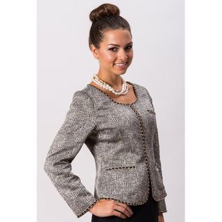 Grace Gallo New York Womens Amanda Grey Formal Jacket