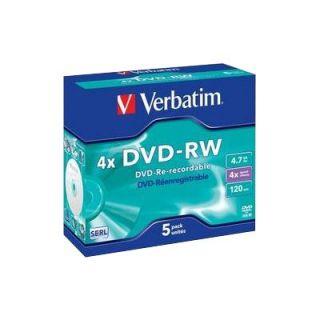 CD   DVD   BLU RAY VIERGE VERBATIM   DataLifePlus   5 x DVD RW   4.7