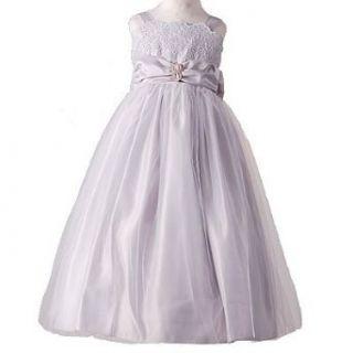 New Little Girl SILVER TULLE Flower Girl Dress Spring 6