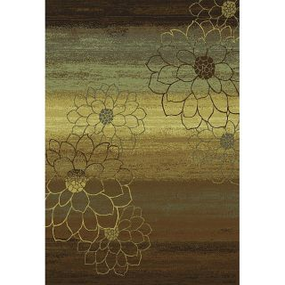 made Blue/ Brown/ Gold Polypropylene Rug (110 x 76)
