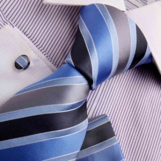 Blue Ties For Men Christmas Gifts Royal Blue Stripes Woven