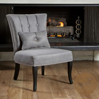 Christopher Knight Home Franco Grey Fabric Accent Chair