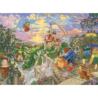 Disney Dreams Collection By Thomas Kinkade Beauty & Beast 16X12 18