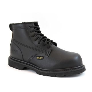 AdTec Mens Black Action Leather Work Boots