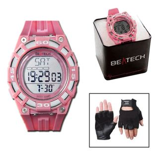 Beatech Heart Rate Monitor Watch and Leather Glove Set